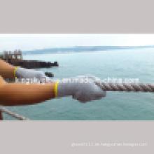 Grauer String Knit Baumwoll- und Polyesterhandschuh