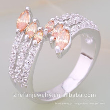 Preços no atacado Mais Recente Moda branco Banhado A Ouro anéis de casamento muçulmano Ródio banhado a jóia é sua boa escolha