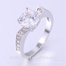 Preço do anel de ouro branco em jóias do paquistão anéis de armadura de dedo completo Ródio banhado a jóias é sua boa escolha