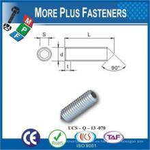 Hecho en Taiwán DIN 914 ISO 4027 Cono Punto Grub Tornillo A2 Acero inoxidable 3mm Negro Fosfato