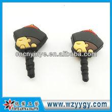 cute cartoon promotional phone soft pvc dust plug
