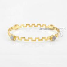 Handgemachtes Regenbogen-Mondstein-Armband, 925 Sterlingsilber-Edelstein-Armbänder für Frauen