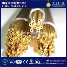 Tubo de latão H62 polido / tubo de latão
