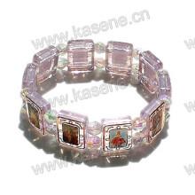 Epoxy Saint Image Пластиковый браслет из розария