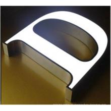 Letra de acrílico sólido frente iluminado letras LED 3D signo