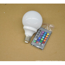 Factory Price 3W e27 remote control 16 color rgb led bulb light 100-240V rgb led bulb with remote