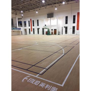 Vinyl Wood Colour Indoor Basketball Court Mat