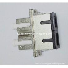 Adaptador híbrido de fibra óptica de la vivienda del metal del duplex de Sc-LC