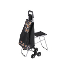 Luggage carrier with chair