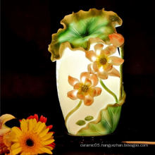 Chinese country style ceramic lotus lamp shades