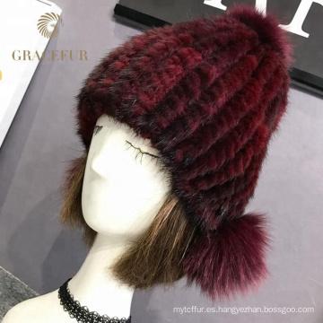 Mujeres rojas comunes del sombrero de las lanas de la tela para la venta