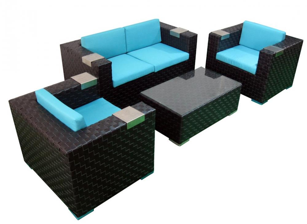 Cube Wicker Sofa Set