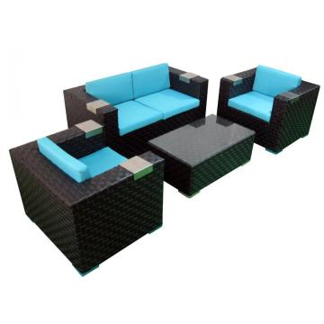 garden furniture outdoor rattan cube sofa set