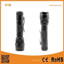 C18 alta potência 3.7v recarregável pesca caça camping lanterna