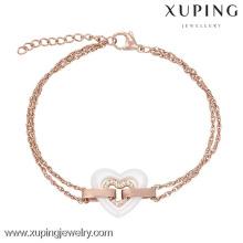 74098-jewellery thailand jewelry manufacturer gold plated heart girls fancy bracelets
