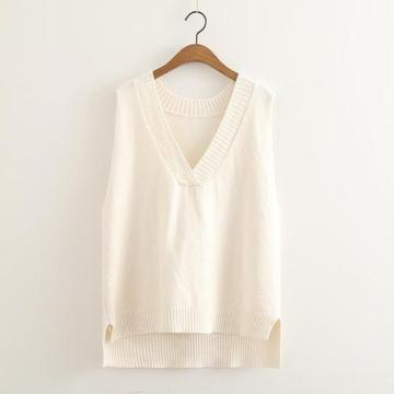 Custom New Style Sweater Women V-neck Knitted Vest