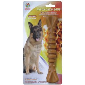 "Percell 7,5 ""Nylon Dog Chew Spiral Bone Honung Doft"