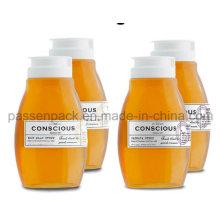 500g Haustier Plastik Squeeze Honig-Flasche mit weißer Silikon-Ventil-Kappe