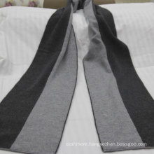 High quality knitted scarf cashmere, 100% cashmere scarf