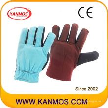 Rainbow Color Sewed Cotton Industrial Safety Work Gloves (41019)