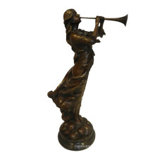 Music Deco Brass Statue Performer Hand-Made Bronze Sculpture Tpy-996