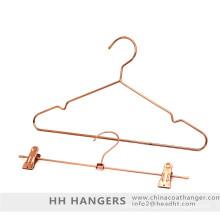 Metal de cor de cobre moda roupas cabide cabide de ouro Rose