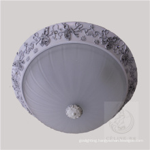 New Design Resin Ceiling Lamp with Glass Shade (SL92679-3)