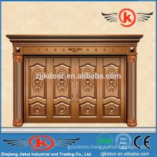 JK-C9015 luxury brass bronze villa door wally carving door design
