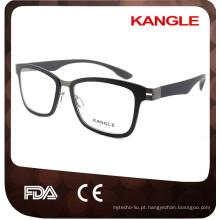 2017 Homens Ultralight TR90 com óculos ópticos metálicos e óculos de óculos