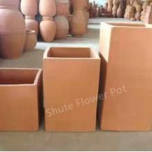 Square Shape Durable Earthenware Planter Pots For Flower