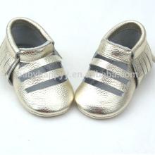 Neuer Entwurf beiläufiges Baby beschuht Kleinkind-Säuglingsleder reizende Schuhe