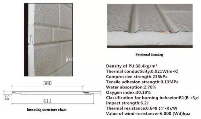 prefabricated house Sandwich PU exterior wall panels