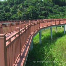 Balcony WPC Handrails UV Stable Balustrades Durable Anti-Corrosion Composite Railing