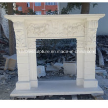 White Antique Marble Fireplace (SY-MF223)
