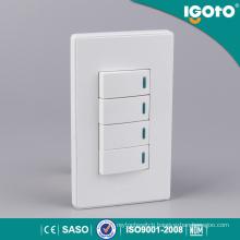 4 Gang 1 Way WiFi Remote Control Wall Socket Switch