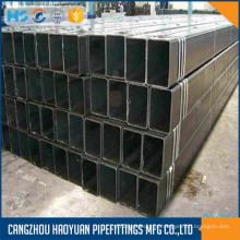 Tubería de acero cuadrada negra ASTM A53 GRB SCH40