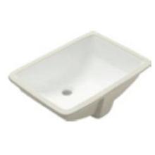 Lavabo bajo encimera rectangular de cerámica
