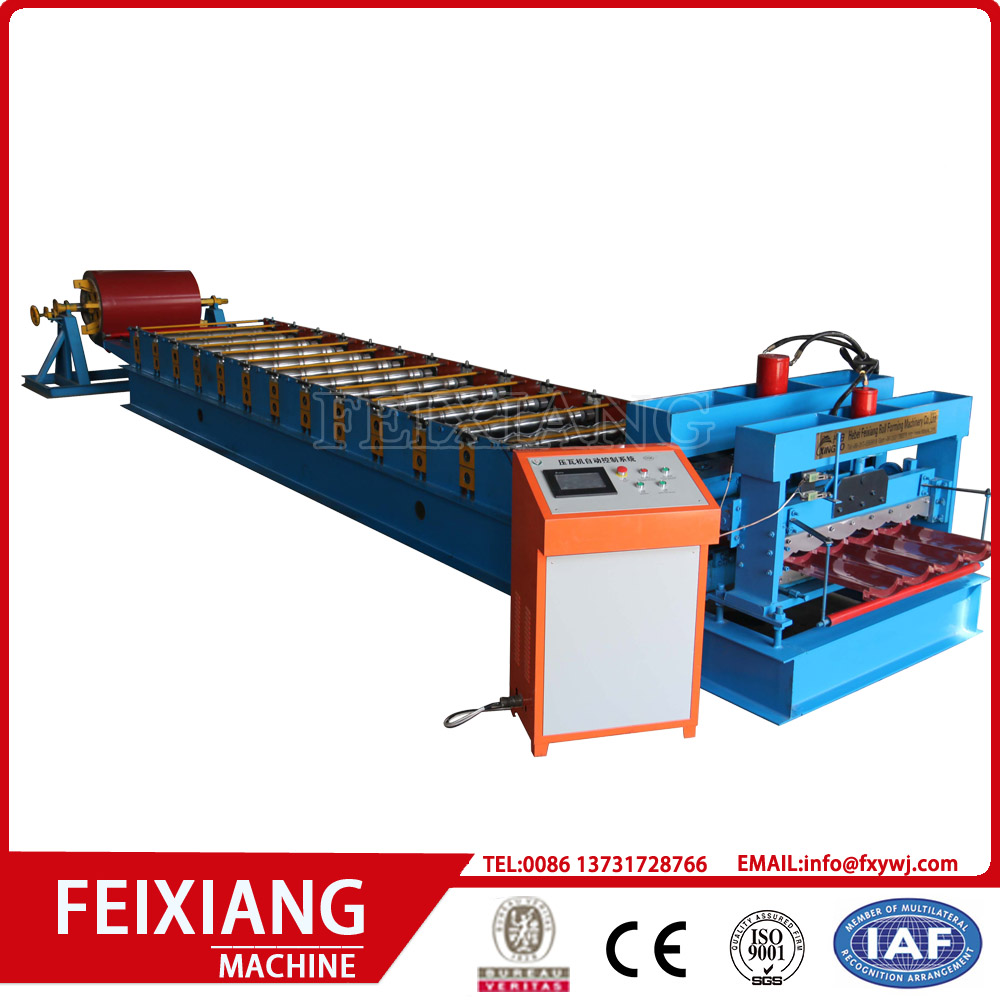 Colored Glazed Sheet Tile Roll Forming Machine