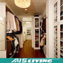 Luxury Villa Wood Grain Walk-in Closet Design Wardrobe for Home Furniture (AIS-W455)