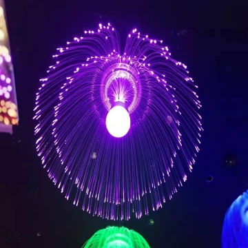 medusas led decoración fibra luz