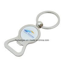 Anéis chaves no volume, impressão Logotipo no abridor de garrafa (GZHY-KA-116)