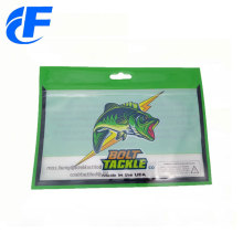 Customized printing windows ziplock fishing lure bait bags
