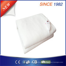 Branco puro 100% poliéster cobertores elétricos com comutação não-polar