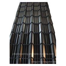 Hoja de techo de acero corrugado galvanizado en color negro (960Modelo)