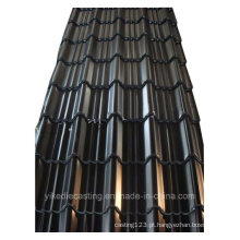 Telha de aço ondulada galvanizada de cor preta (960Modelo)
