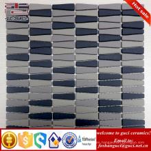 proveedor chino Strip mate acabado pared de cristal del hogar mosaico de vidrio