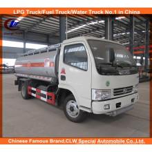 Dongfeng 6 Rodas Caminhões Tanque de Combustível 5000L Caminhão de Transporte de Petróleo