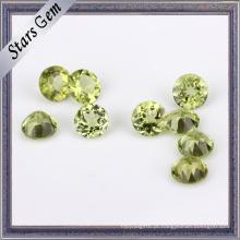 Rodada Shining Corte Natural Peridot Gemstone
