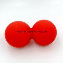 Kundengebundener Nahrungsmittelgrad-Silikon-Gummiverbundene Doppelkugeln für Muskel-Massage