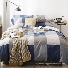 New Product Fashion Style Home Bedding Stripe Soft Cotton Fabric Bedding Set